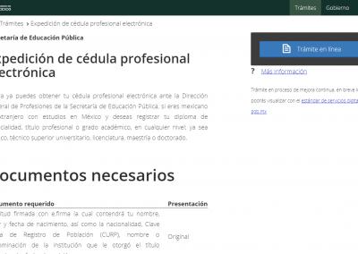 isto, tu solicitud está ingresada. Sólo resta esperar a que sea firmada de manera electrónica y podrás tramitar tu cédula en la página: http://www.gob.mx/tramites/ficha/expedicion-de-cedula-profesional-electronica/SEP6534.